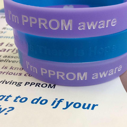 I'm PPROM Aware Wristband