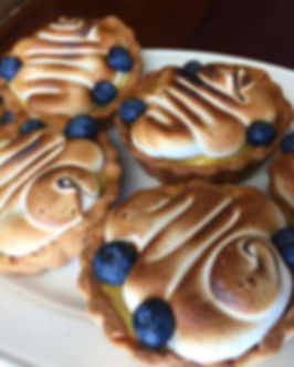 Lemon Meringue Mini Tarts with Fresh Blueberries