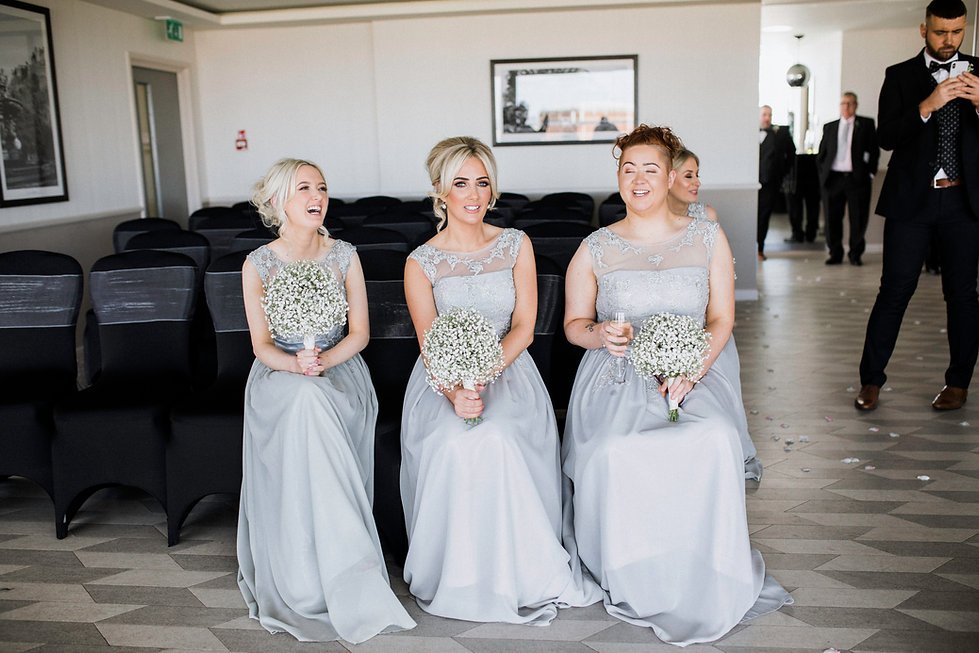 wedding photographer edinburgh fun happy bridesmaids