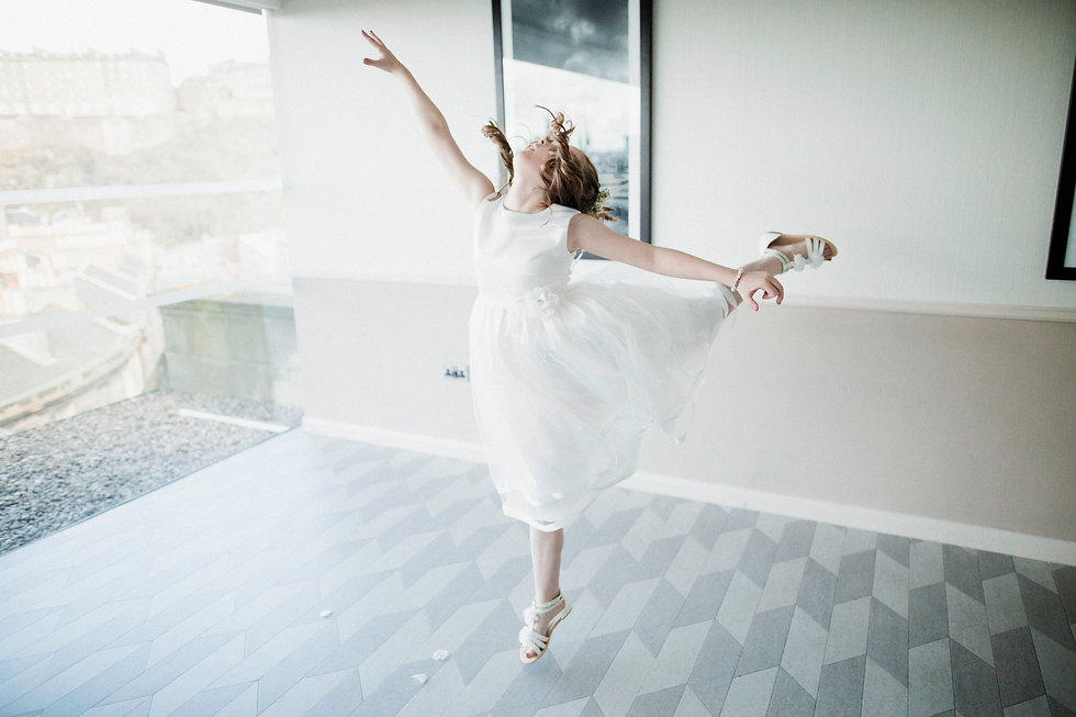 wedding photographer edinburgh fun happy dance