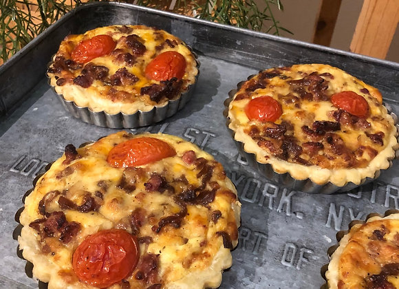 Quiche - Tomato, Bacon & Basil