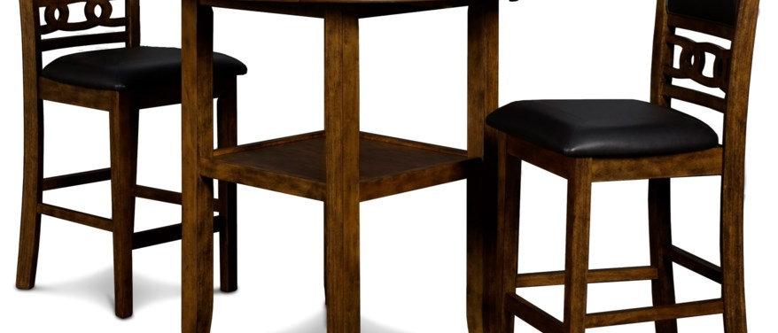Gia Drop Leaf Table-Brown