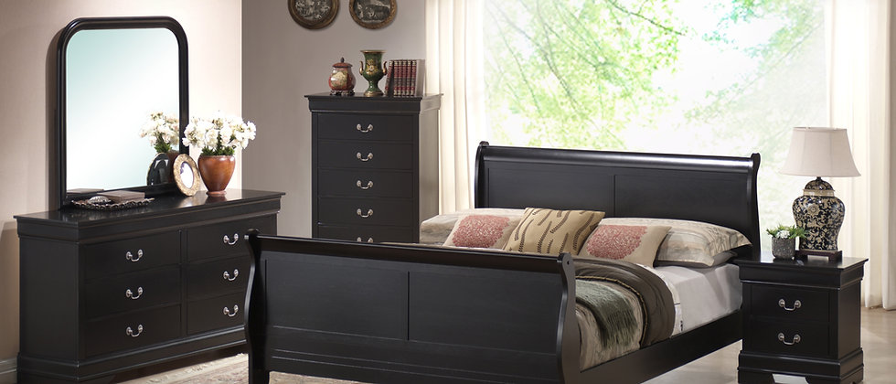 Ebony Louis Phillipe Bedroom Group