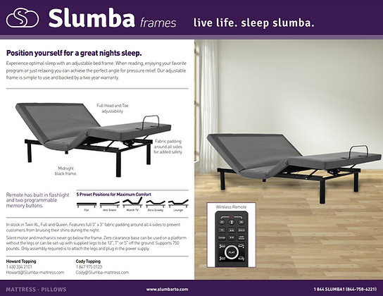 Slumba Adjustable Frame