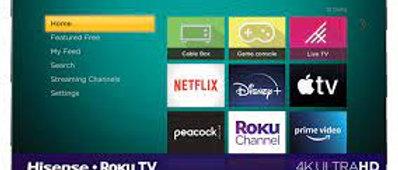 "HiSense 65"" Roku Smart TV"