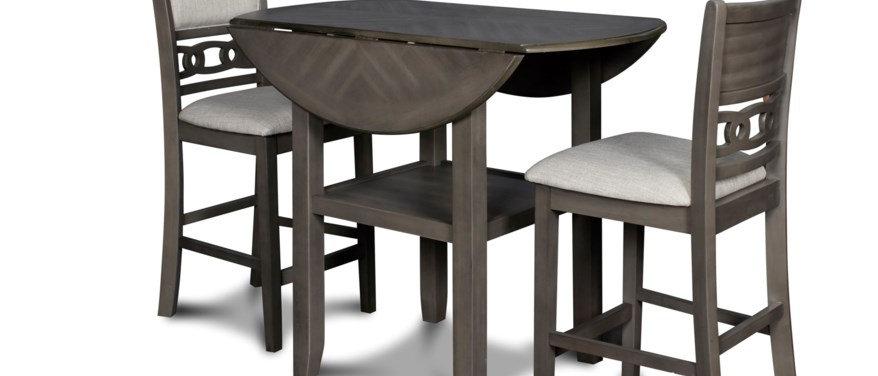 Gia Drop Leaf Table- Grey