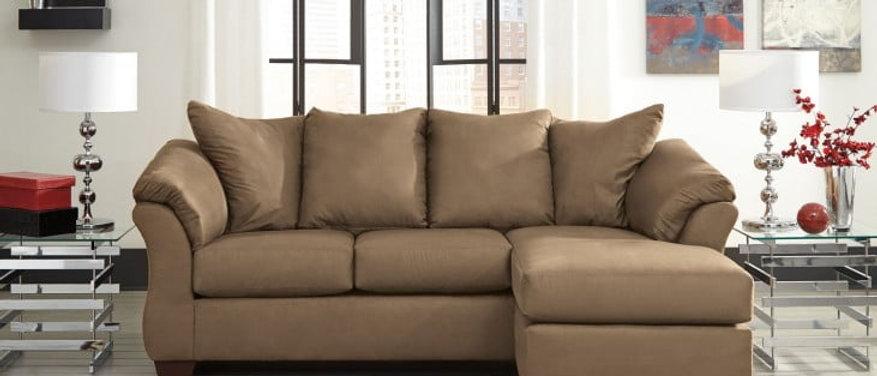 Darcy Chaise Sofa- Mocha