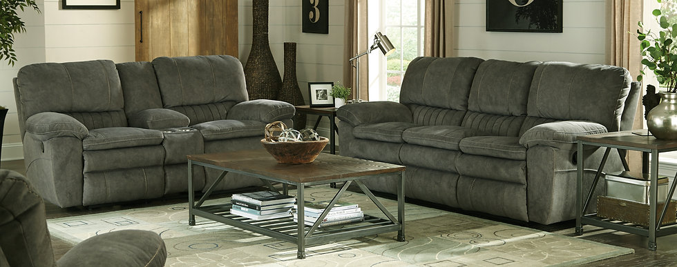 Reyes Graphite & Reyes Portabella Power Reclining Group