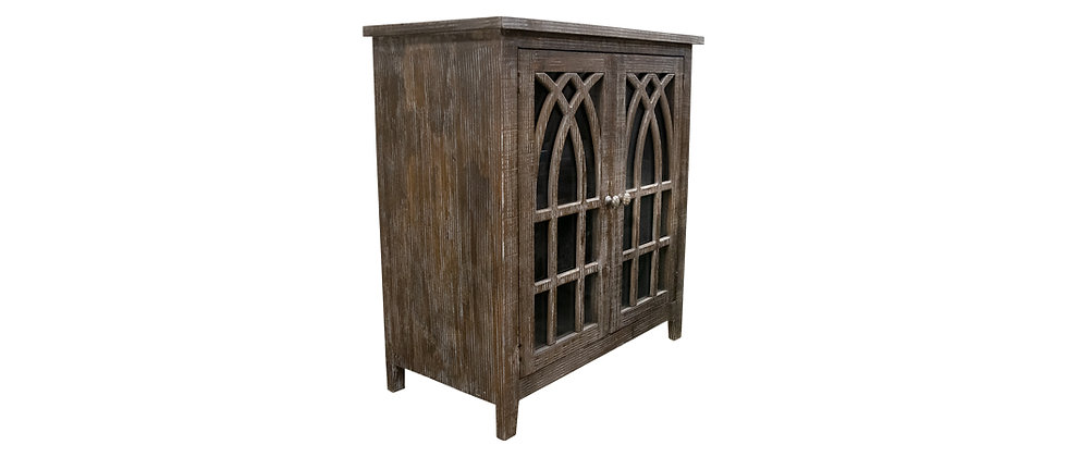 Cathedral 2 Door Console w Glass