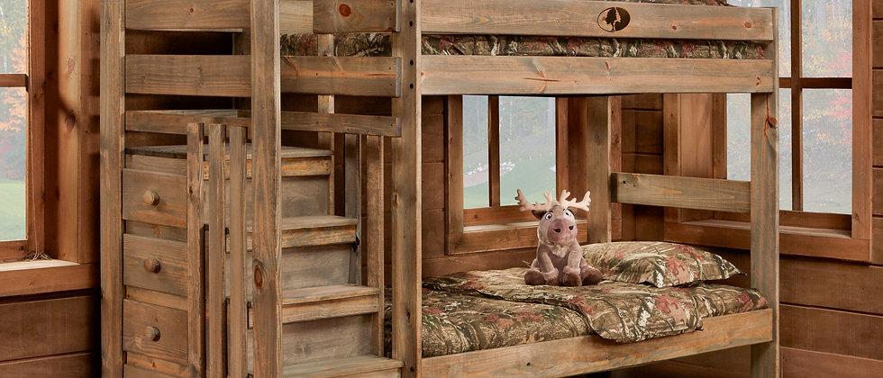 Twin/Twin Mossy Oak Stairstep Bunkbed