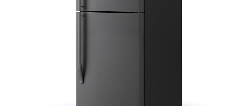 Midea 18 cf Top Mount Refrigerator- Black