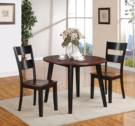 Black and Cherry Drop Leaf Dining Set