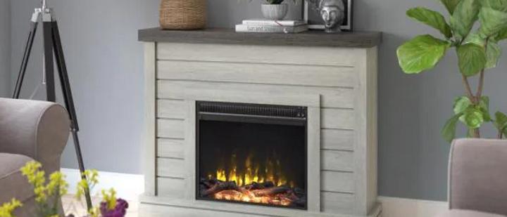 """54"""" Fairfax Oak Fireplace"""