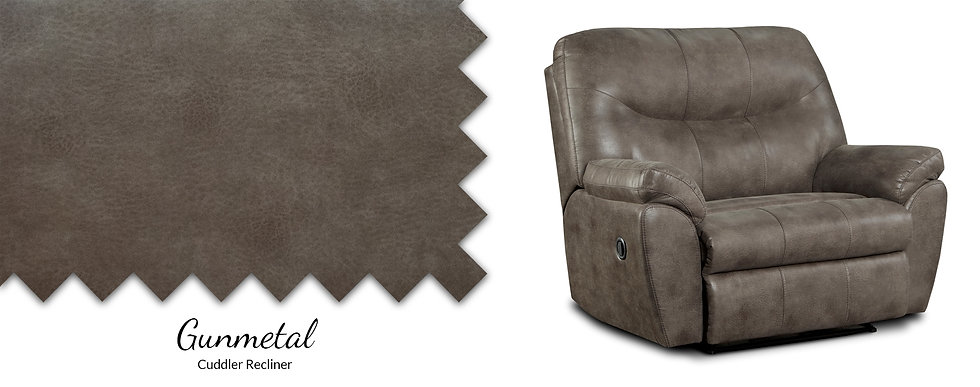 Gunmetal Cuddler Recliner