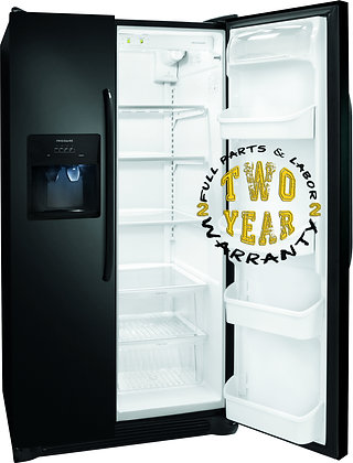 Side by Side Refrigerator - Black