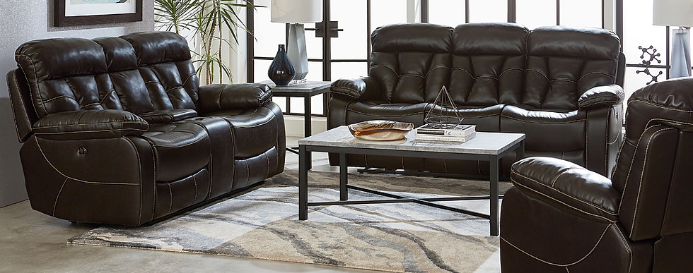 Peoria Java Reclining Sofa Group