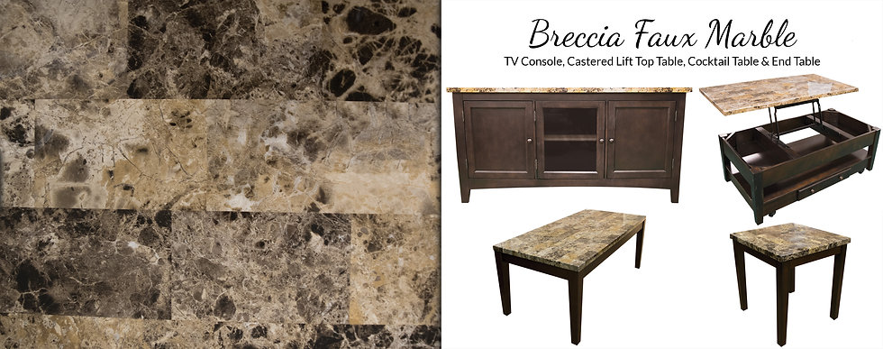 Breccia Faux Marble Occasional Sets