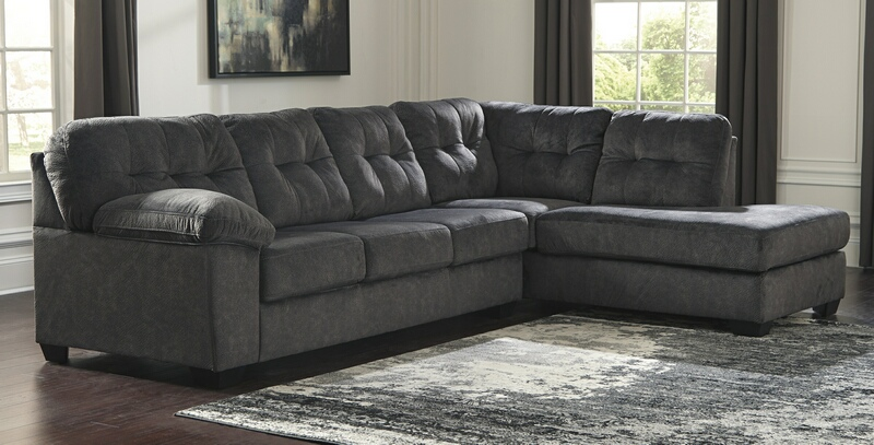 Accrington Chaise Sectional- Granite