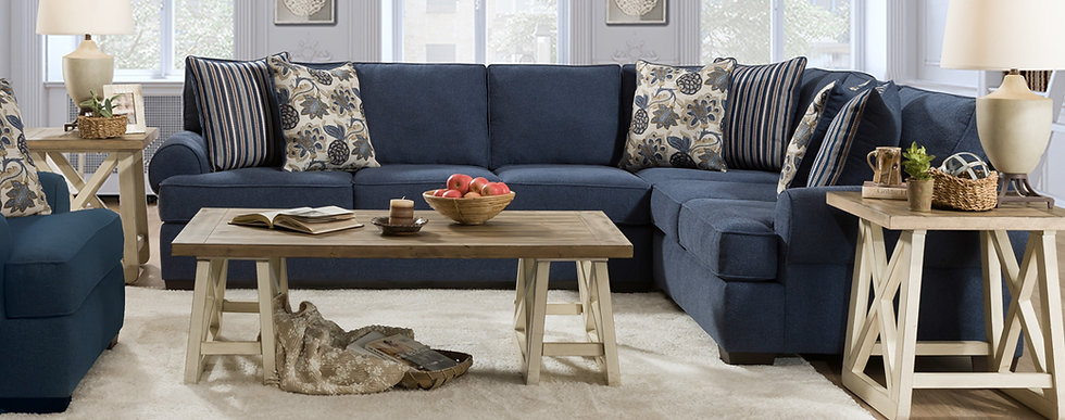 Laci Blue Sectional