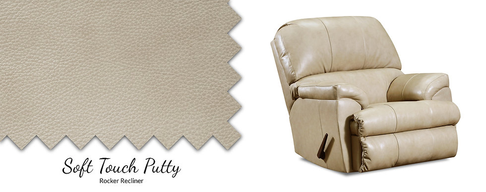 Soft Touch Rocker Leather Recliner