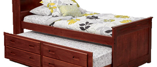 Twin Bookcase Captains Bed