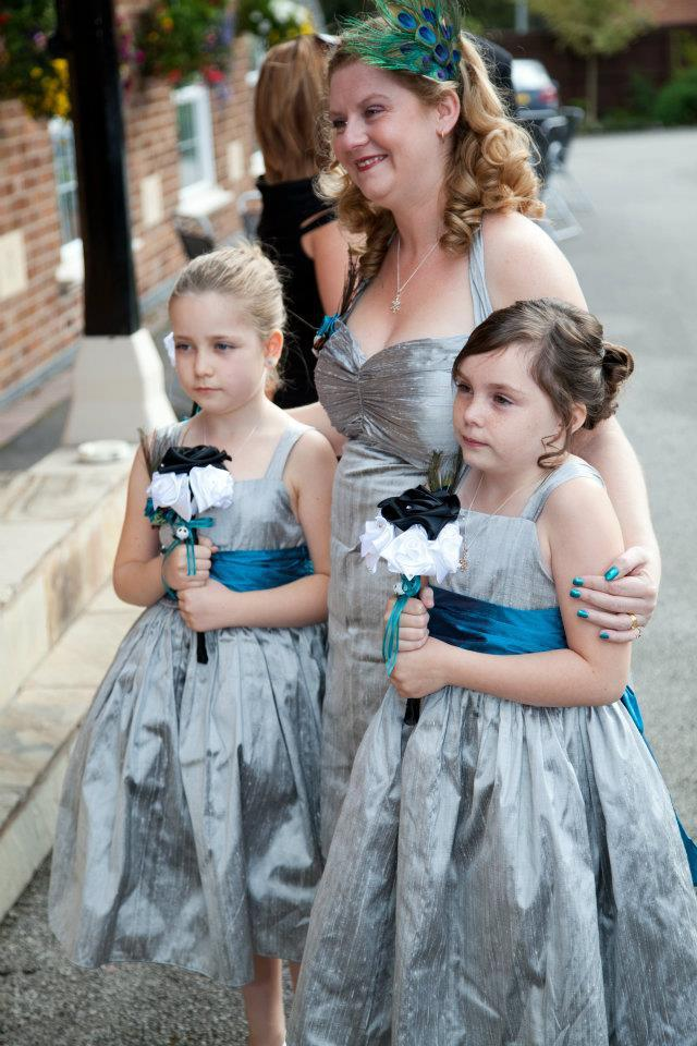 claire's flower girls and bridesmaid
