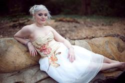 silk embroidered dress