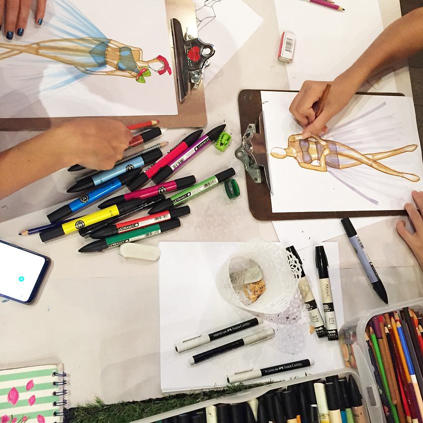 Taller de Ilustracion de Moda - Atelier Esther Lab