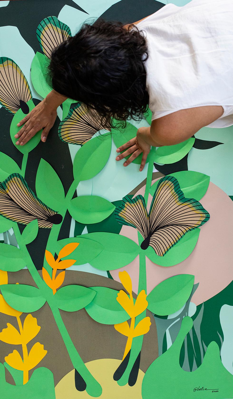artista-belca-compondo-jardim-vertical