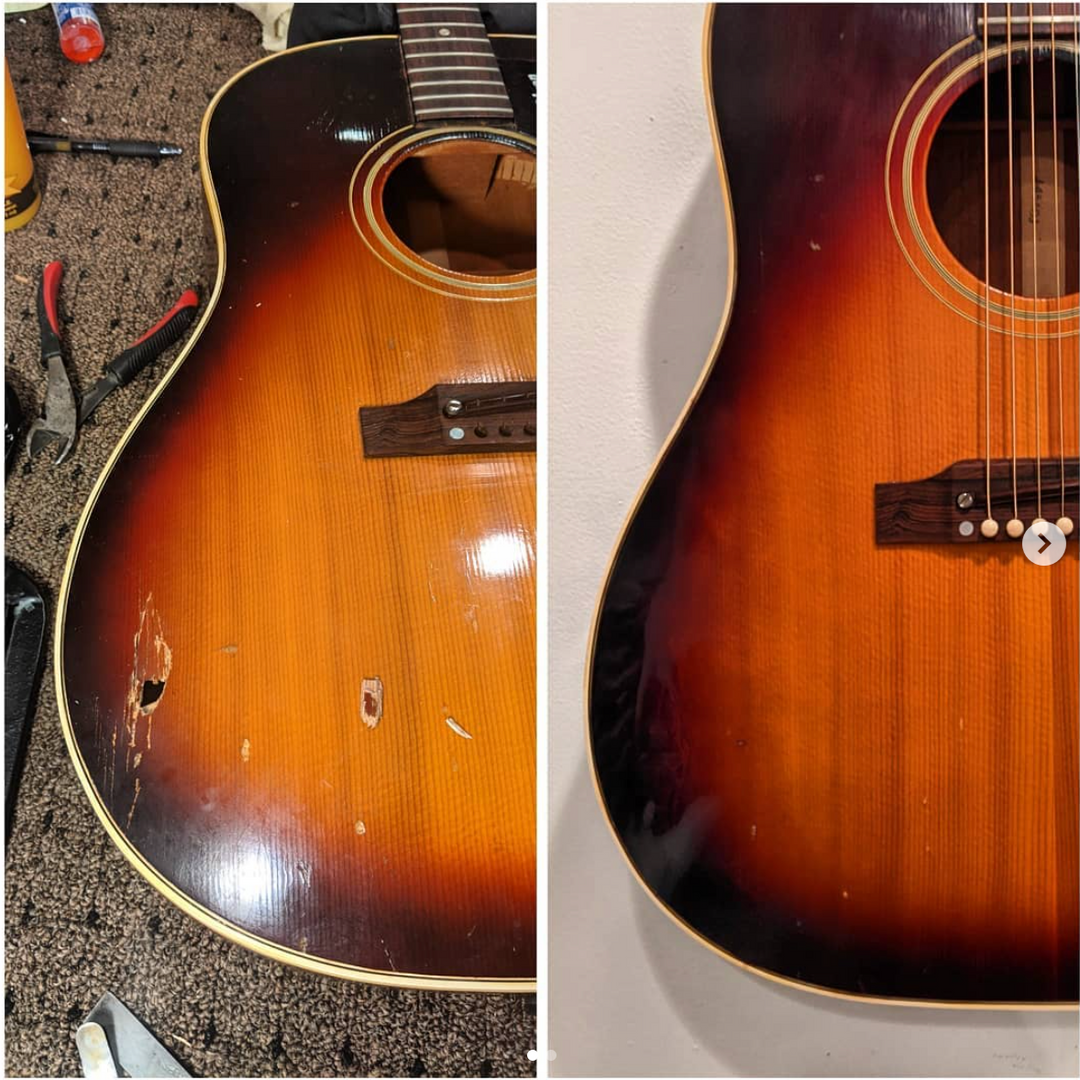 Finish Damage/Wood Replacement in Gibson J50