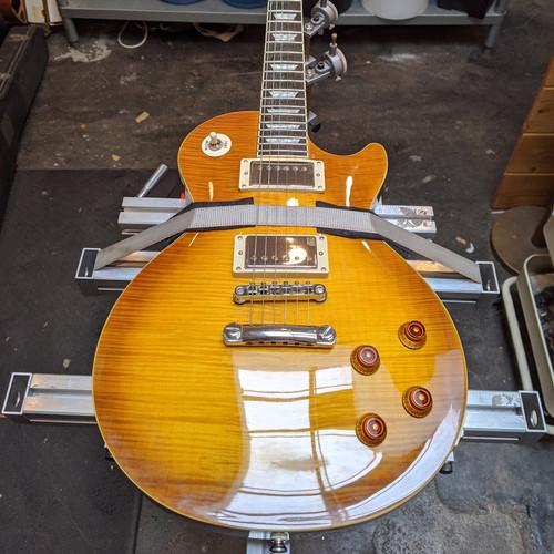 Gibson Les Paul Fret Dress in Fret Jig