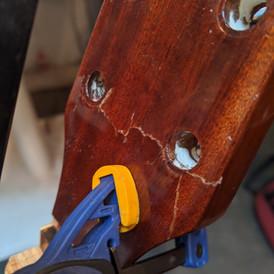 Headstock Repair (During)
