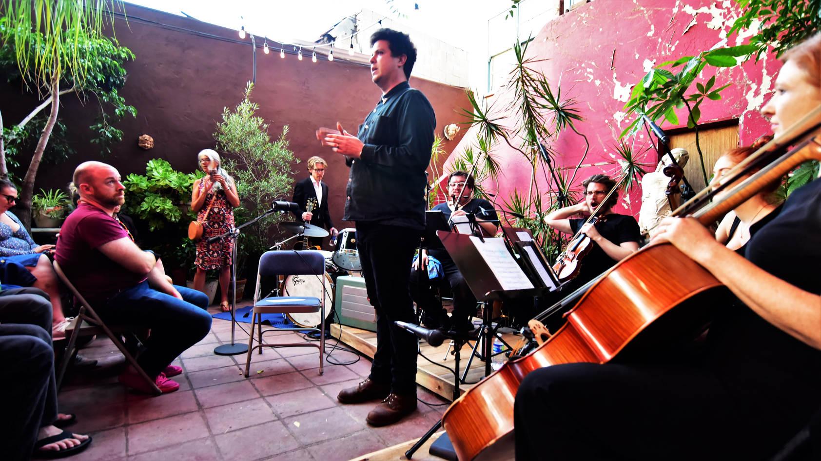 "Paris Patt introducing ""Evan Vidar with Strings"""