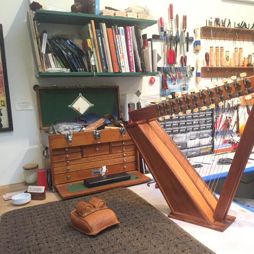 1980's Folk Harp Restoration