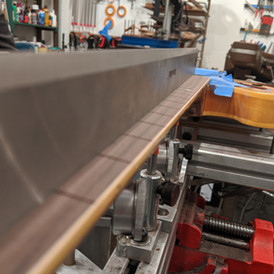 Planing Fretboard prior to Re-Fret