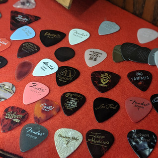 A variety of picks on display