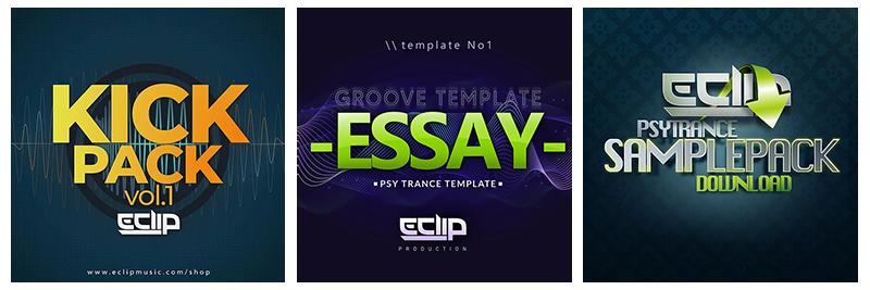 E-Clip Music Web Shop Banner