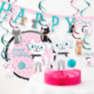 Cat Party Birthday Decorations
