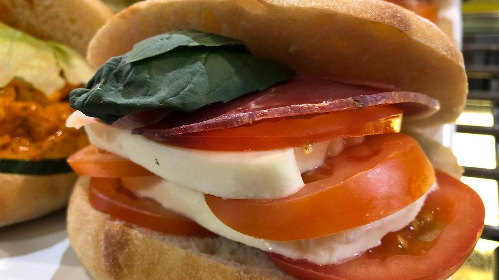 Parma Ham, Mozzarella, Tomato,Basil Ciabatta