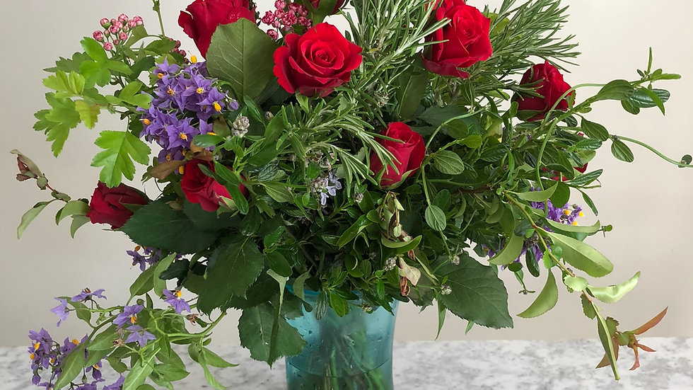 Roses and Rosemary Bunch/ Bouquet