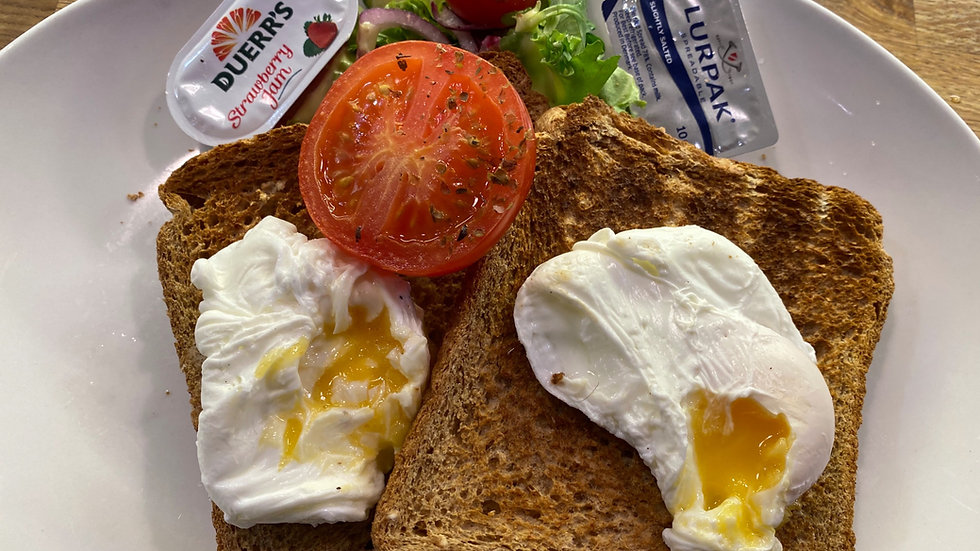 Two Poached Eggs on Granary Toast