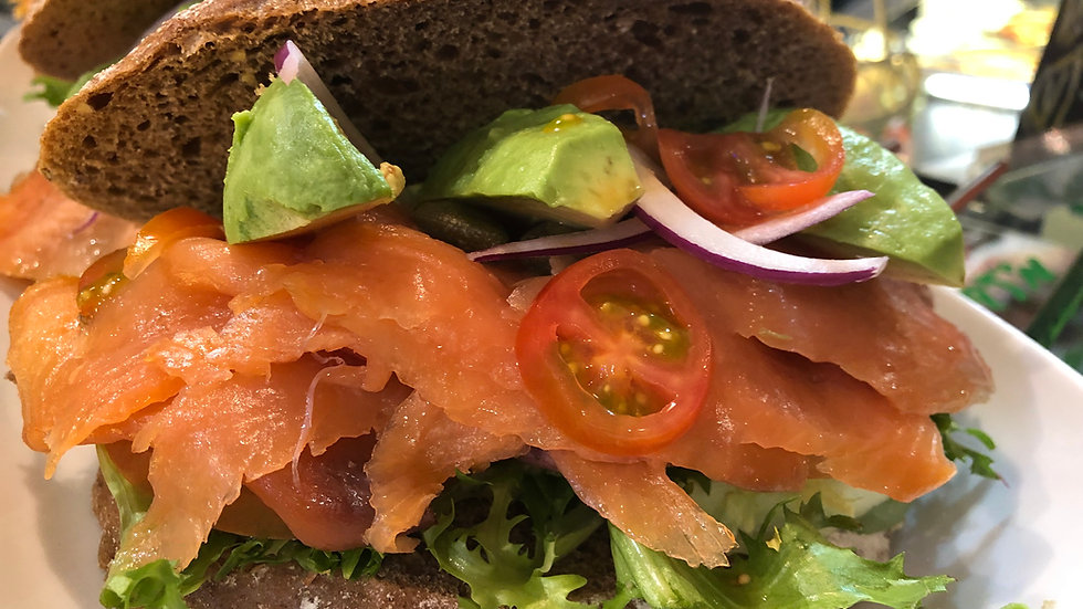 Scottish Smoked Salmon & Avocado on Rye Bread