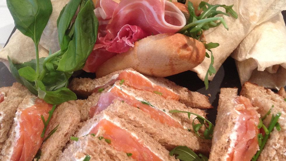 Scottish Smoked Salmon & Cream Cheese Sandwich