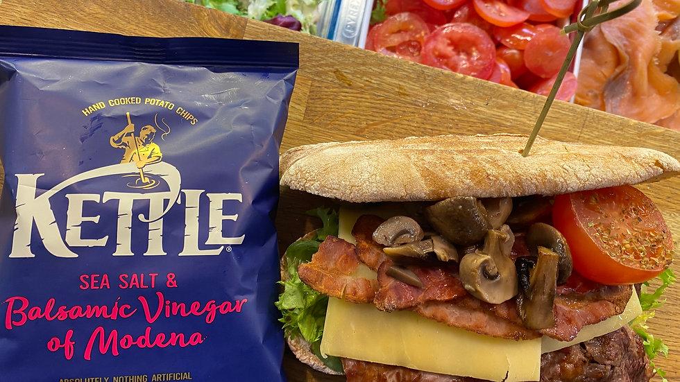 Scottish Rib-Eye Steak Sandwich