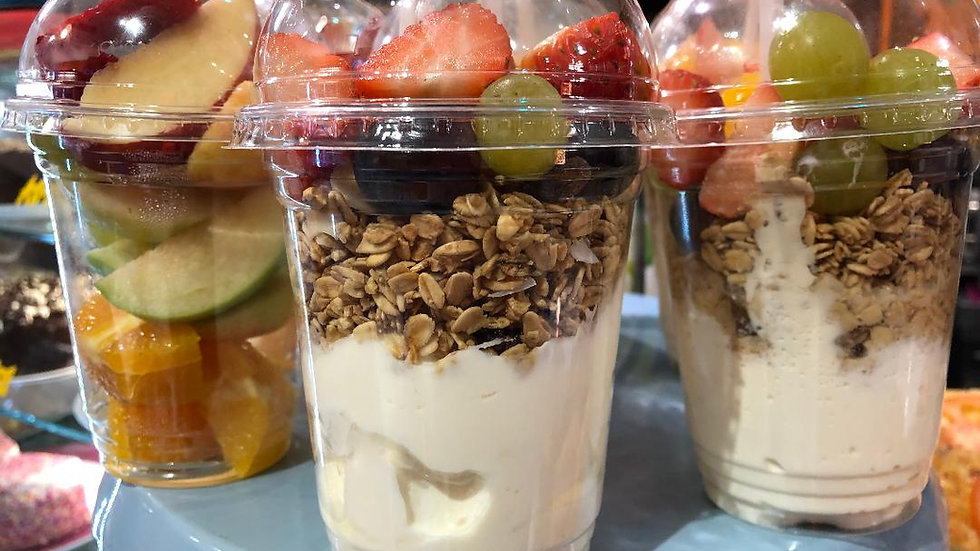 Natural Greek Yogurt, Fruit & Granola