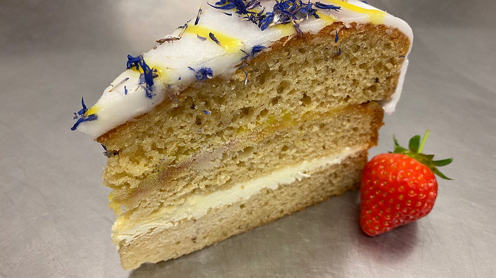 Handmade Earl Grey Lemon Drizzle Cake
