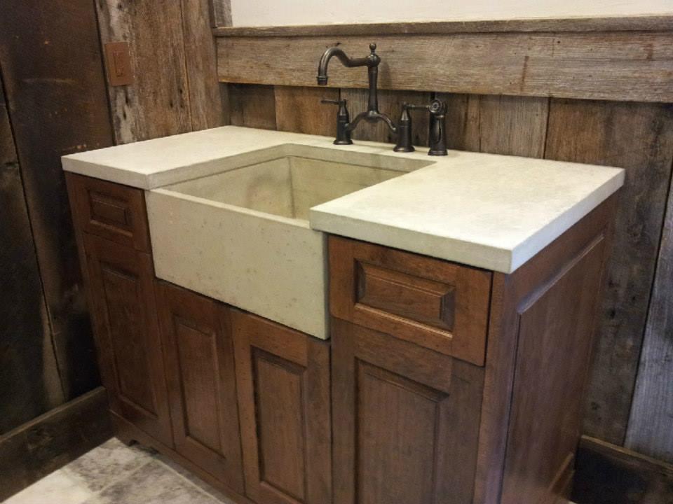 Rustic Farm Sink in Bath