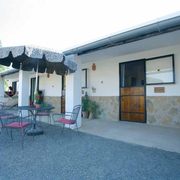 Outside terrace rooms