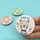 Thumbnail: Party Bear Button Pin Badge (Pink, Blue or Green) - 38mm