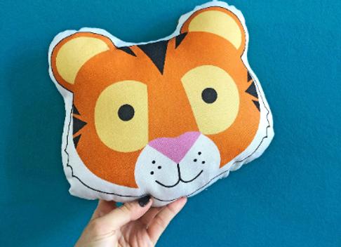 Tiger Plush Scatter Cushion